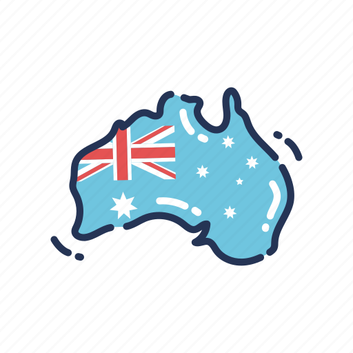 Australia Map Icon.Australia Day Holiday By Flat Icons Com