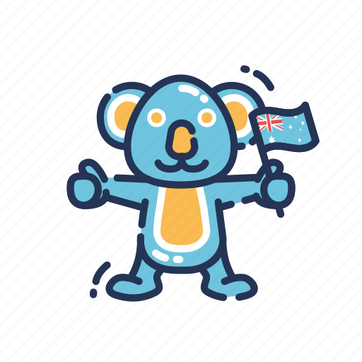 animal, australia, australian, country, flag, koala, koala bear icon