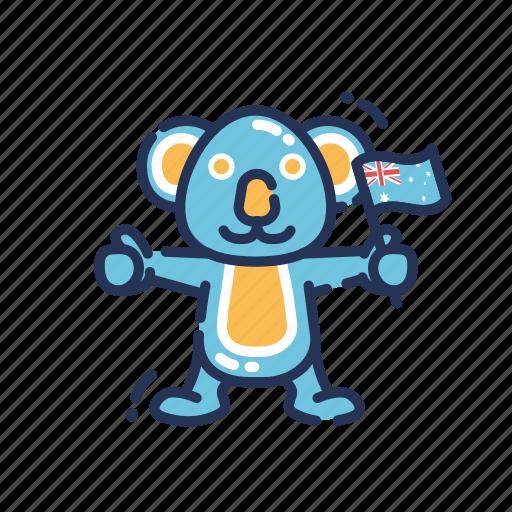 Koala, australia, country, flag icon - Download on Iconfinder