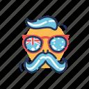 aussie, australia, australia day, australian, hipster, man, sunglasses icon