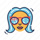 aussie, australia, australia day, australian, cool girl, sunglasses, woman icon
