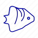 banner, coral, fish, ocean, schooling icon