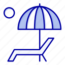 beanch, bench, enjoy, summer, umbrella