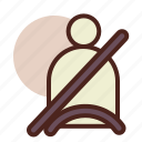 belt, seat, transport, travel icon