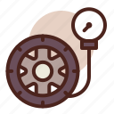 transport, pressure, tire, travel icon