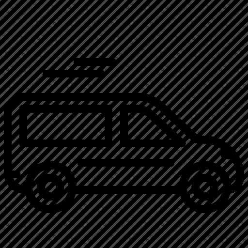transport, travel, van icon