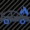 car, crash, auto, accident, vehicle, fire, burn