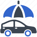 car, auto insurance, insurance, protection, umbrella, vehicle icon