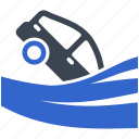 car, insurance, flood, accident, hazard, risk, vehicle icon