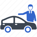 car, auto, buyer, dealer, purchase, salesman icon