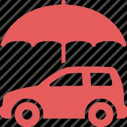auto insurance, car insurance, protection, umbrella icon