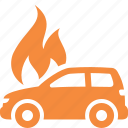 auto insurance, car insurance, fire insurance, vehicle icon