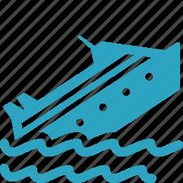 boat, cargo, marine insurance, ship icon