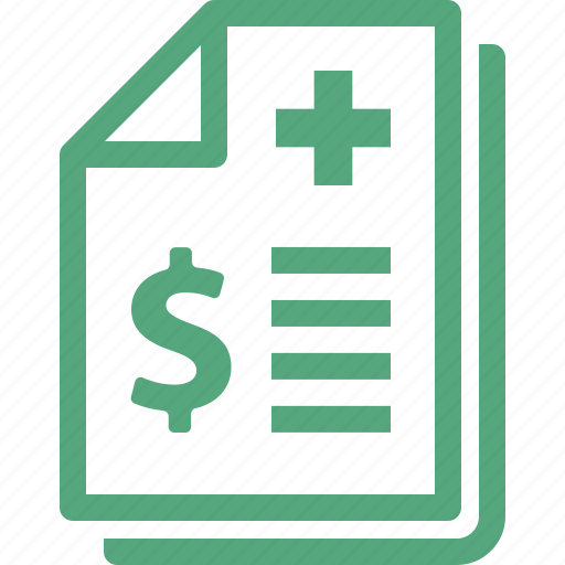 insurance payment, medical bill, medical coverage, medical payment icon