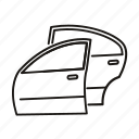 autopart, body, car, door icon