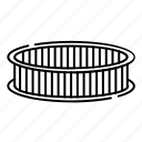 autopart, car, circle, filter, round icon