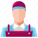 auto, avatar, employee, mechanic, person, service icon