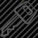 access key, car key, door key, passkey, unlock key icon