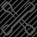 lug wrench, repairing instrument, repairing tool, instrument, maintenance tool, scraper, service tool icon