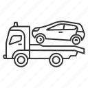 automobile, car, emergency, evacuation, tow truck, transport, wrecker icon