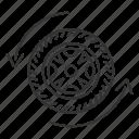 arrow, auto, automobile, car wheel, rim, tire, vehicle icon