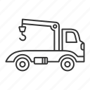 automobile, car, emergency, evacuation, tow truck, vehicle, wrecker icon