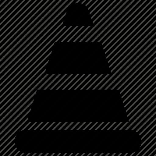 construction cone, pylon, road block, road cone, safety cone, traffic cone, witch's hat icon