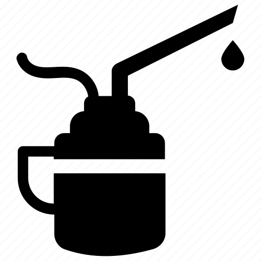 can applicator, metal oiler, oil can, oiler, pistol pump, pump oiler, spout oiler icon
