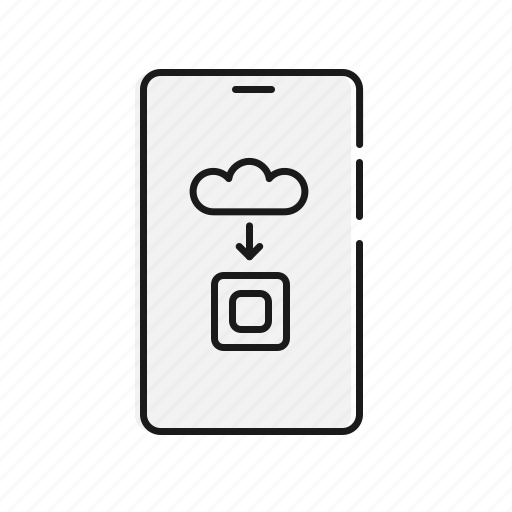 artificial inteligence, assistant, cloud, mobile icon