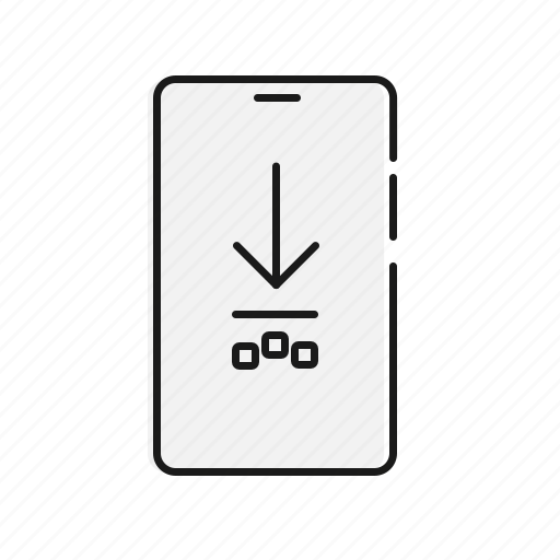 cloud, download, mobile, network icon