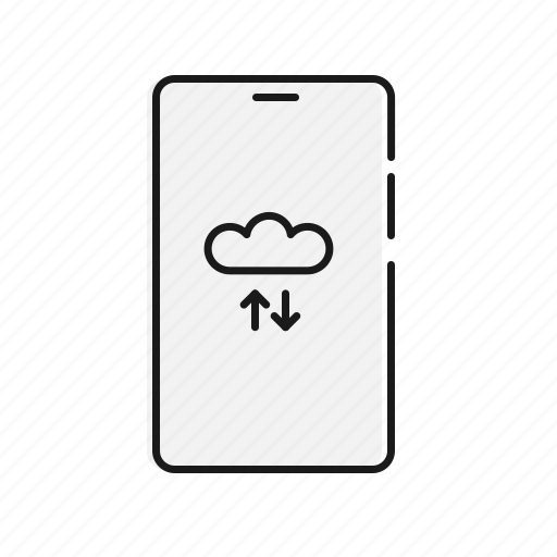 cloud, mobile, network, sync icon
