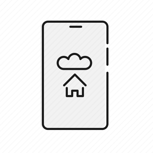 automation, cloud, home, mobile, network icon