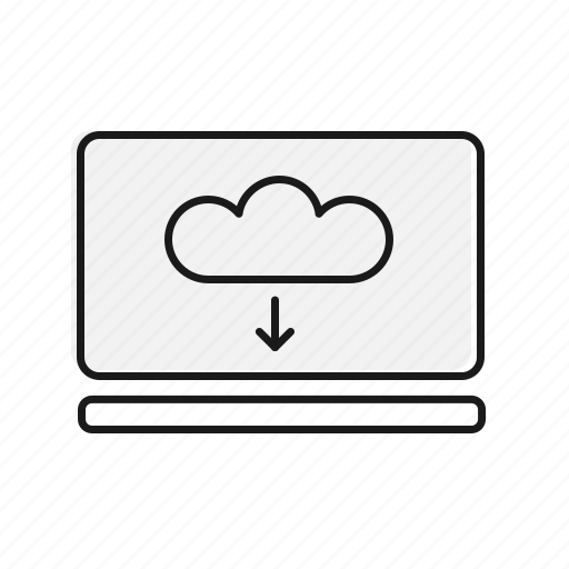 Cloud, communication, download, pc icon - Download on Iconfinder