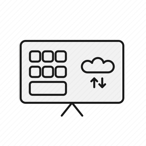 artificial inteligence, cloud, communication, connection, digital, network icon