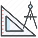 automation framework, compass, design tools, drawing tools, graphic tools, rulers icon