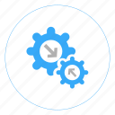 continuous integration, gear, integration, preferences, setting, settings, tools icon