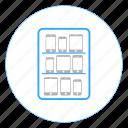 device lab, equipment, hardware, lab, network, server, storage icon