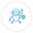 ape, asymmetric, devil, jump, man, monkey, primate icon