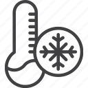 cold, temperature, thermometer icon
