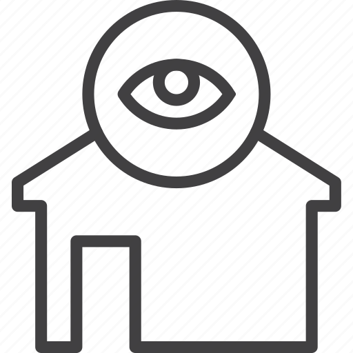 Eye, home, house, view icon - Download on Iconfinder