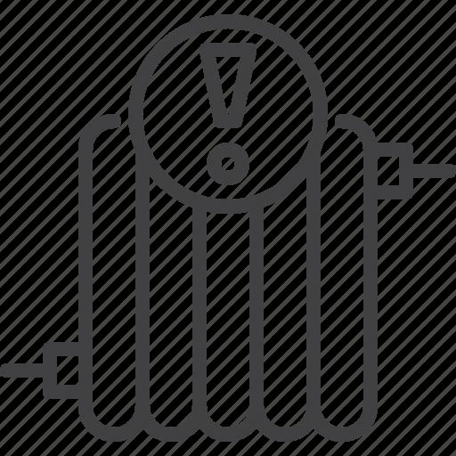 Alert, heating, radiator icon - Download on Iconfinder