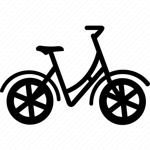 bicycle, bike, cycle, riding, transport icon