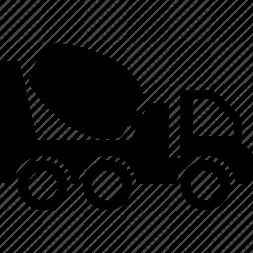 concrete buggy, concrete mixer, construction, transport, vehicle icon