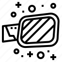 car, mirror, part, side icon
