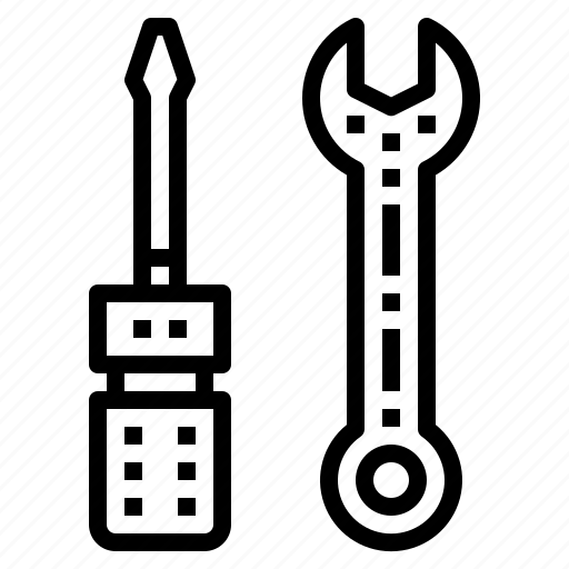 maintenance, screwdriver, tool, wrench icon