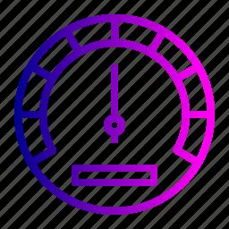 car, gauge, indicator, odometer, speed, speedometer, tool icon
