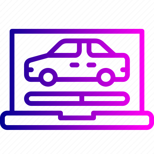 car, diagnosis, diagnostic, online, report, service, website icon