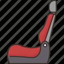 seat, car, passenger, interior, automobile