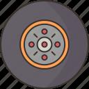 tire, wheel, car, automobile, garage