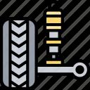 absorber, suspension, shock, tires, damper
